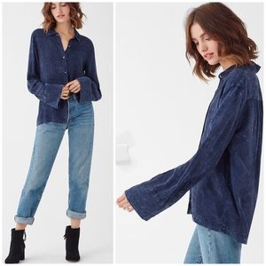 Splendid Mineral Wash Casual Relaxed Fit Blouse M